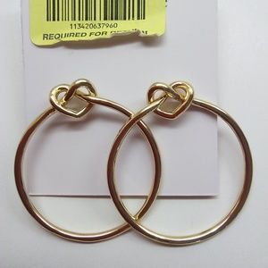 Kate Spade New Gold Hoop Earrings